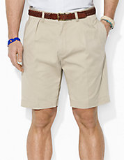 Classic Fit Pleated 9' Chino Short