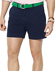 Classic Fit Flat Front Chino Short
