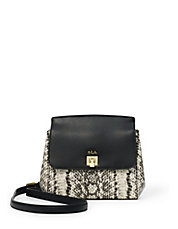 Whitby Small Snake-Look Leather Crossbody