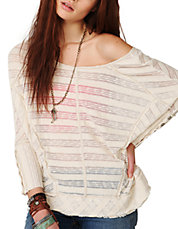 Spells Trouble Stripe Pullover