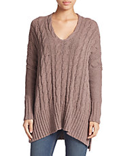 Easy Cable V-Neck Sweater