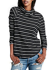 Striped Drippy Thermal Sweater