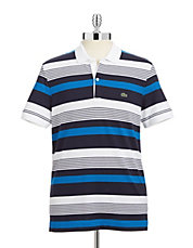 Striped Stretch Cotton Polo