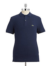 Heathered Pique Polo