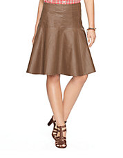 Twill Fit and Flare Skirt