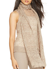 Pointelle-Knit Tank with Scarf
