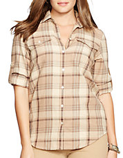 Plus Plaid Twill Workshirt