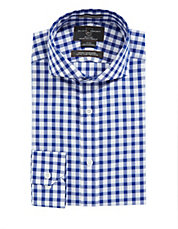 Fitted Checkered Dress Shirt