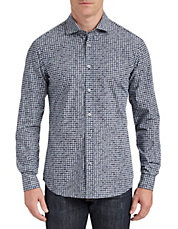 Houndstooth Printed Sport Shirt