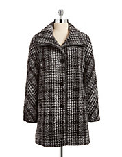 Novelty Wool-Blend Piped Coat