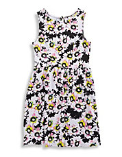 Girls 7 to 16 Printed Skater Dress