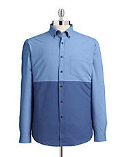 Colourblocked Oxford Shirt