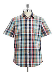 Short Sleeve Plaid Sport Shirt
