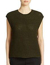 Chunky-Knit Cotton & Linen Shell