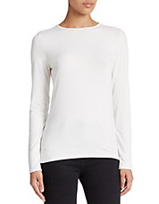 Plus Long-Sleeved Crew Neck Tee