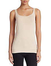 Plus Scoop Neck Stretch Tank