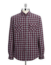 Plaid Flannel Sport Shirt