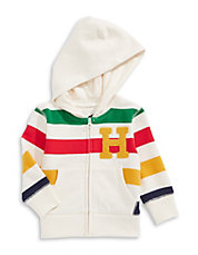Happier - Baby Fleece Hoodie with Chenille  H  Appliqué