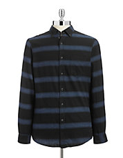 Striped Flannel Sport Shirt