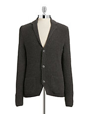 Notched Collar Cardigan