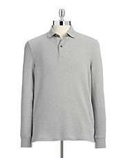 Long Sleeve Interlock Polo