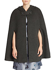 Hooded Wool-Blend Cape