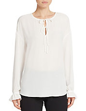 Semi-Sheer Poet Blouse