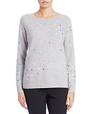 Dotted Wool-Cashmere Sweater