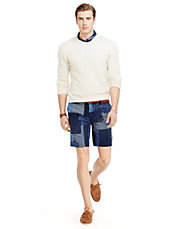 Straight-Fit Maritime Patchwork Short