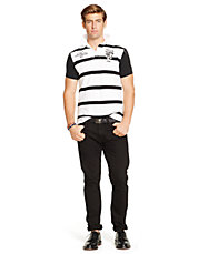Custom Fit Rugby Striped Polo Shirt
