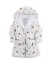 Teddy Bear Printed Terry Robe