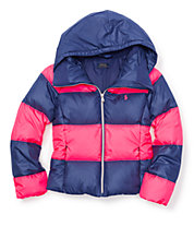 Rugby Stripe Puffer Jacket