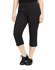 Plus Cropped Drawcord Pant