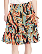 Printed Tiered Skirt