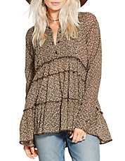 Cedar Hill Floral Tiered Tunic