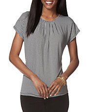 Houndstooth Crewneck Shirt