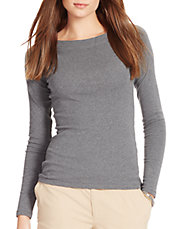 Petite Long-Sleeve Cotton Top