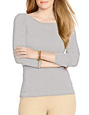 Plus Long-Sleeve Cotton Top