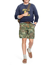 Relaxed Fit Embroidered Camo Short