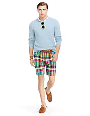Straight-Fit Maritime Double-Faced Madras Short