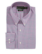 Poplin Checked Slim Dress Shirt