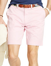 Classic Fit Flat Front Chino Shorts