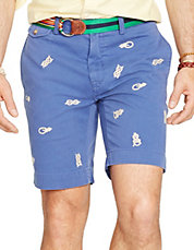 ClassicFit Embroidered Chino Short