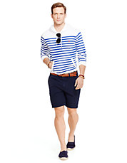 Classic-Fit Maritime Seersucker Short