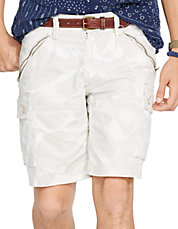 Straight Fit Camo Cargo Short
