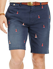Classic Fit Embroidered Chino Short