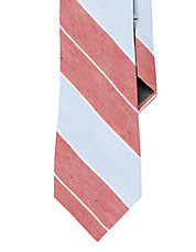 Multi Striped Linen Silk Tie