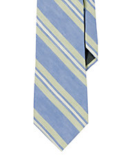 MultiStriped LinenSilk Tie