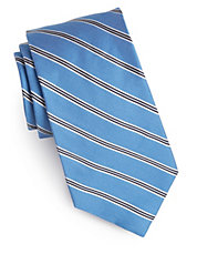 Silk-Cotton Striped Tie