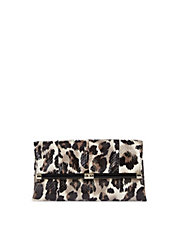 Leopard Leather Envelope Clutch